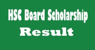 HSC Board Scholarship Result