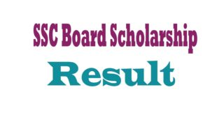 SSC Board Scholarship Result
