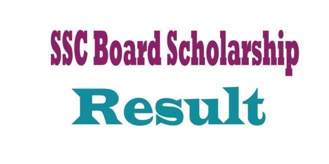 SSC Board Scholarship Result